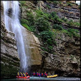 albanian rafting waterfalls